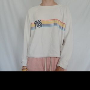 """76"" Cropped Long Sleeve!"